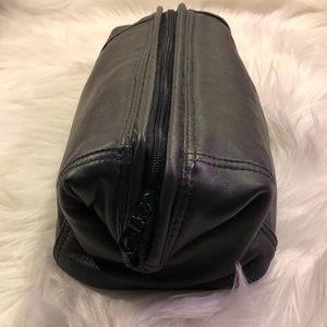 Men's Leather shave personal essentials bag